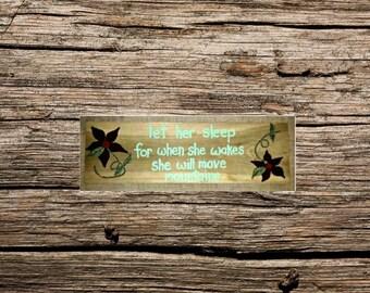 Handmade wood sign - Nursery Wood sign - custom nursery sign -  rustic wood sign - hand painted sign - custom nursery sign - gift for baby -