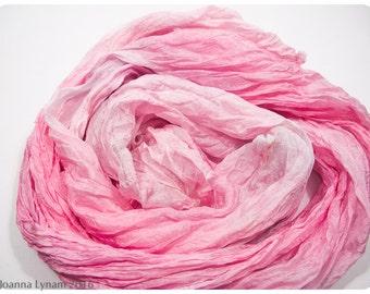 "Shibori Silk Scarf. Hand painted silk scarf. 27""x64"" FLAT (0.7x1.6m)~Silk scarf handpaint~Handpainted silk scarves. Painted silk scarves. #2"