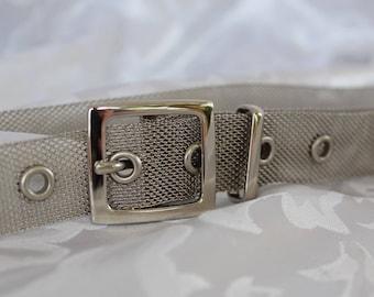 Vintage Silver Mesh Belt - Silver Metal Belt