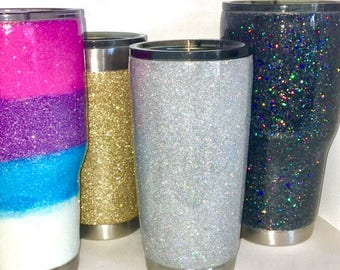 You design Glitter Dipped Tumbler stainless steel tumbler You Choose Color