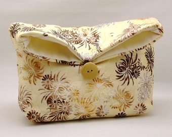 Foldover clutch, Fold over bag, clutch purse, evening clutch, wedding purse, bridesmaid gifts - Chrysanthemum (Ref. FC34 )