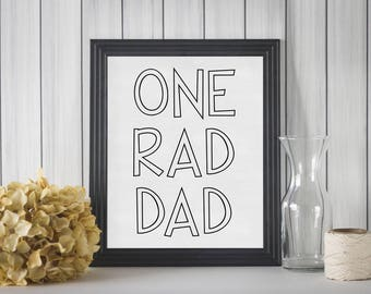 8x10 One Rad Dad Printable | Father's Day | Birthday | Mancave - INSTANT DOWNLOAD