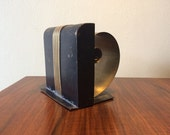 Vintage Art Deco Metal Coil Spring Bookend 1930s 1940s Modernist Midcentury Mid Century Home Decor Antique Bookends Cast Metal Waterfall