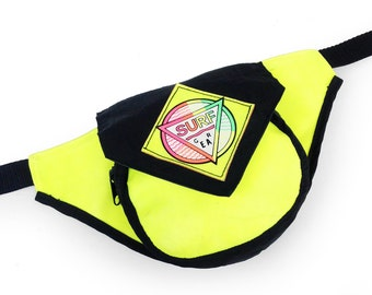 Neoprene 80s Surf Gear Rainbow Gradient Neon Fanny Pack - 24 to 30