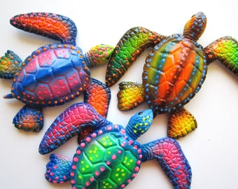 Turtle wall decor, fun beach decor, nautical wall art,key west art, florida decor