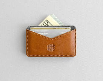 Compact cardholder, money wallet, card case // CHASTE 2 (Grey/Brown)