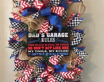 Father's Day Swag,Father's Day Wreath, Man Cave Wreath, Man Cave Decor
