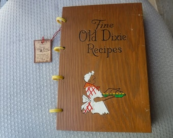 Fine Old Dixie Recipes late 1930s edition Southern Cook book 322 Old Dixie Recipes with tag