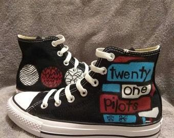 Twenty-One Pilots custom Converse