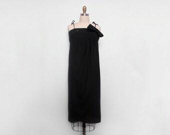 70s Disco Dress. Sequin Dress. Vintage Party Dress. Little Black Dress. Column Dress. Draped Dress. Tulip Dress. Sleeveless Dress Size Small