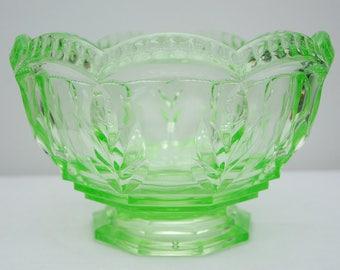 Deep Uranium Glass Fruit Bowl