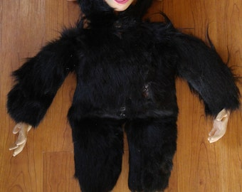 1960s blue ribbon Chimpanzee stuffed toy