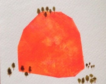 Mountain Gem - hand-painted blank greeting card.
