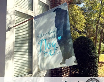 Dog Flag | Rescued Dog Love | Custom Breed Available | Garden or Large House Flag | Size via Dropdown | Convo for Custom