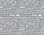 """End of Bolt- 26""""x44"""" of J is For Jeep Brand Words on Gray from Riley Blake Design's J is For Jeep Collection"""