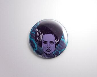 Bride of Frankenstein Pin Back Button - 1.25 Inch - Frankenstein - Universal Monster