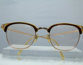 Vintage Full Frame Retro Ladies Made in Germany Eyeglasses 12k 1/10 Gold Filled Perscription Eyewear Glass Installed DanPickedMinerals