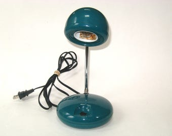 Vintage Green TENSOR 650 Orb Telescopic Desk Lamp - 1970s Adjustable Arm Mid Century Task Light
