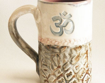 Om mug 16oz ceramic coffee mug 16C011