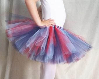 Sports Tutu | Tennessee Tutu | Red and Blue Tutu | Party Tutu | 4th of July Tutu | Girl size 6-14