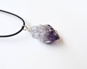 Rough Amethyst Necklace, Amethyst Jewelry, Raw Amethyst Necklace, Crystals, Gifts Under 20, Christmas Gifts, Canadian Shop, Purple Gemstones