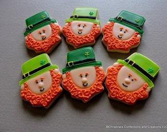 Leprechaun Decorated sugar Cookies - St. Patricks Day cookies - Irish cookies (#2221)