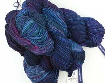 Malabrigo Rios yarn, color Whale's Road, #247, purples and blues, superwash knitting yarn worsted weight