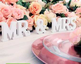 Mr and Mrs Sign Wedding Table Decoration Sweetheart Table