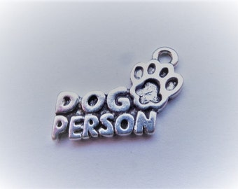 18mm*13mm. 10CT. Dog Person Charms, Y25