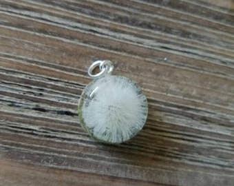 Petite Dandelion Wish Pendant Charm