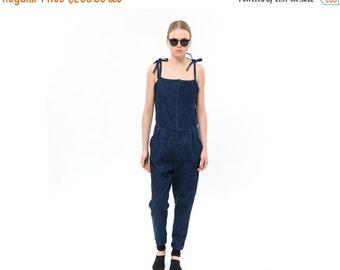 SALE 40% OFF Long Ladies One Piece Pantsuit, Trendy Womens Jeans Jumpsuit, Chic  jeans Romper, jeans overall, Denim, Jeans