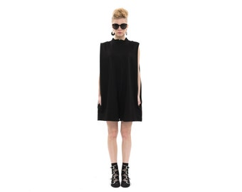 Black jumpsuit for summer, Trendy Chic One Piece, Sleeveless Womens Romper , Designer Short Ladies Jumpsuit for Day / Evening