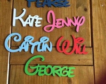 Personalised Wooden Name Plaques Words/Letters Wall/Door Art/craft/Sign Disney Style Font Painted