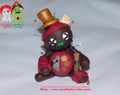 Sir Leander Griswald. Steampunk Voodoo Doll. Hand Sculpted Polymer Clay Figurine
