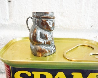 Wee tin Toby mug antique vintage tiny little unusual collectible English decor
