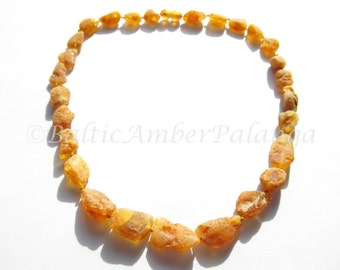Raw Unpolished Baltic Amber Necklace