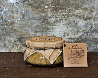 Italian Pesto Green Olive Pesto in Tureen Jar