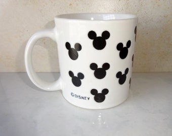 Vintage Mickey Mouse Mug Disney Ceramic Mug Mickey Mouse Ears Coffee Cup