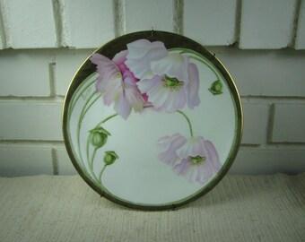 2 decorative china plates Art Nouveau R.S. Germany Victoria Austria with hangers