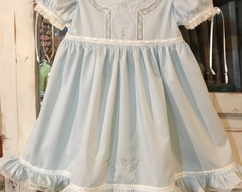 Size 18 mo - 2 Embroidered Toddler Dress and Slip