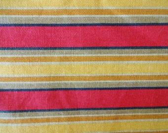 Vintage Roman Stripe Cotton Fabric 6 Yards
