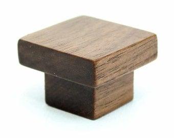 Dark Wood Cabinet Knob, Walnut Wood Knob, Modern Cabinet Hardware, Walnut Furniture Knob, Furniture Hardware