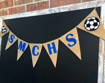 Soccer Team Banner - Custom Team Name - Team Name Banner - High School Sports Banner - Soccer Banner, Soccer Decor, Soccer Party, Photo Prop