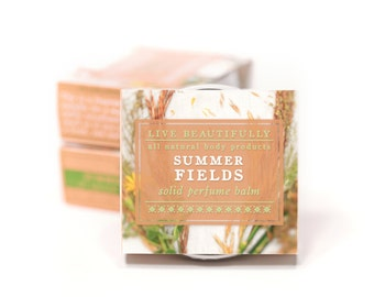 Summer Fields Perfume - All Natural - Sweet Woodlands, Earth, and Wildflowers