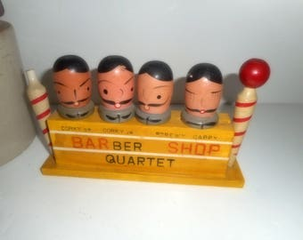 Barware, Vintage Barware,Barber Shop Quartet, Cork Screw, 1960s Bar Set