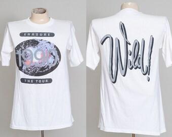 1990 Erasure Wild Tour White Cotton European Tag T Shirt Large