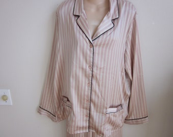 SALE Victoria's Secret pajamas silky lounge sexy lingerie nightgown L