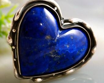 Lapis Ring Lapis Lazuli Sterling Silver
