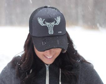 Geometric Moose Trucker Hat