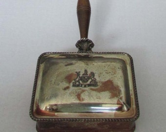 Vintage F G RODGERS Silverplate Silent Butler Crumb Catcher